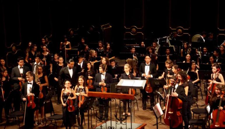 La Banda Sinfónica Elemental y la Orquesta Sinfónica Infantil se presentan en el Teatro Nacional de Costa Rica