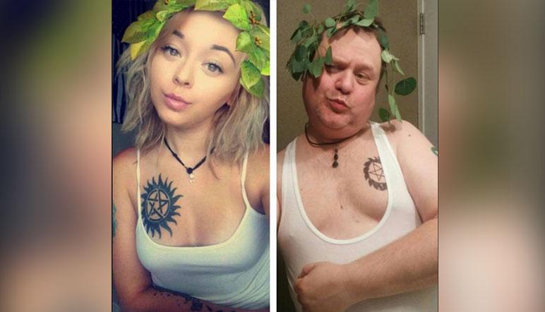 El padre que imitó los selfies de su hija, viral