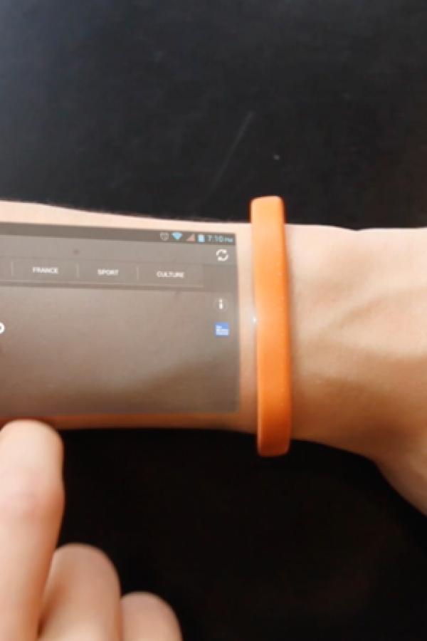 """""""Cicret Bracelet"""", la pulsera que convierte tu piel en una tablet"""