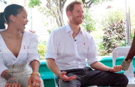 Rihanna se hace las pruebas de VIH junto al príncipe Harry