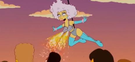 Los Simpson ya predijeron la actuación de Gaga