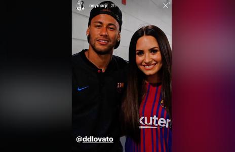Demi Lovato tiene el esperado encuentro con Neymar