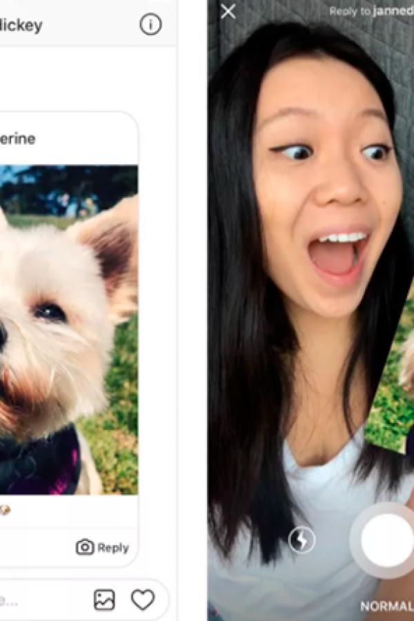 Ya podés responder con fotos y videos en Instagram